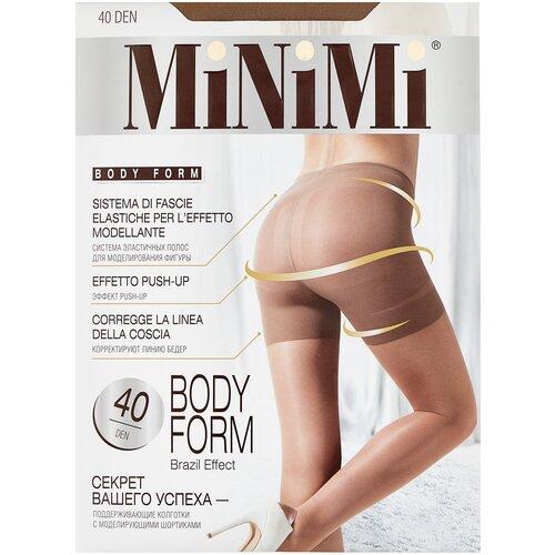 Фото - Колготки MiNiMi Body Form, 40 den, размер 4-L, daino (бежевый) колготки minimi slim control 40 den размер 4 l daino бежевый