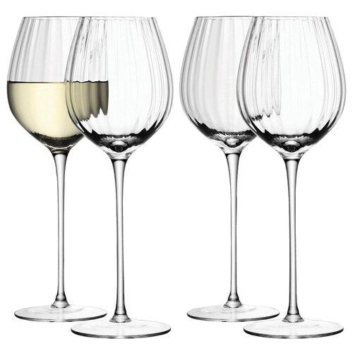 Набор из 4 бокалов для белого вина LSA International Aurelia 430 мл бокал для белого вина pearl 4 шт lsa g1332 12 401