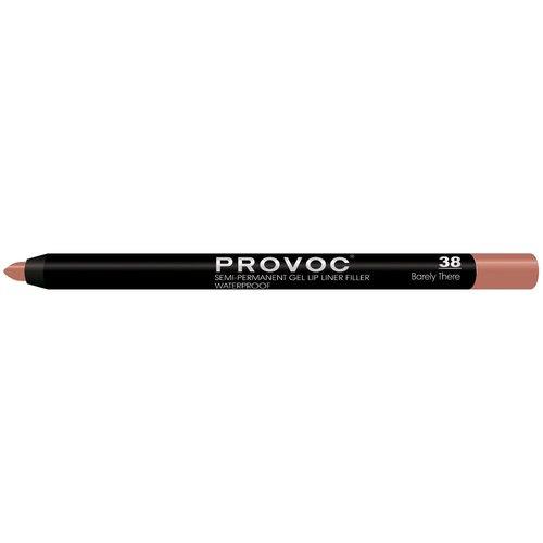 Provoc гелевая подводка в карандаше для губ Semi-Permanent Gel Lip Liner 38 barely there недорого