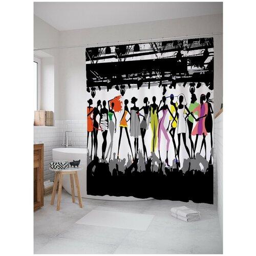 Штора для ванной JoyArty Модная выставка 180х200 (sc-2904)