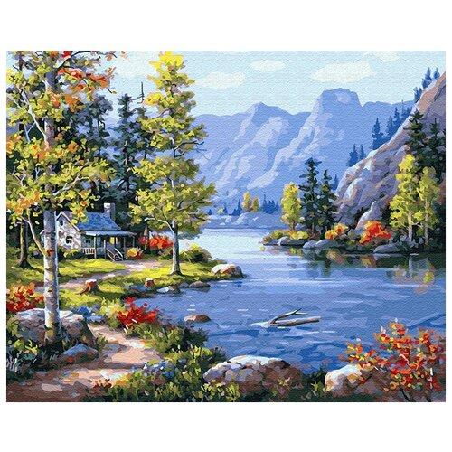 Купить Картина по номерам ВанГогВоМне ZX 20213 Домик в горах 40х50 см, Картины по номерам и контурам