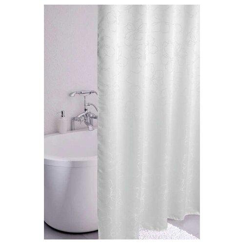 Фото - Штора для ванной IDDIS 490J200i11 180x200 белый штора для ванной iddis 680p18ri11 180x200 зеленый черный