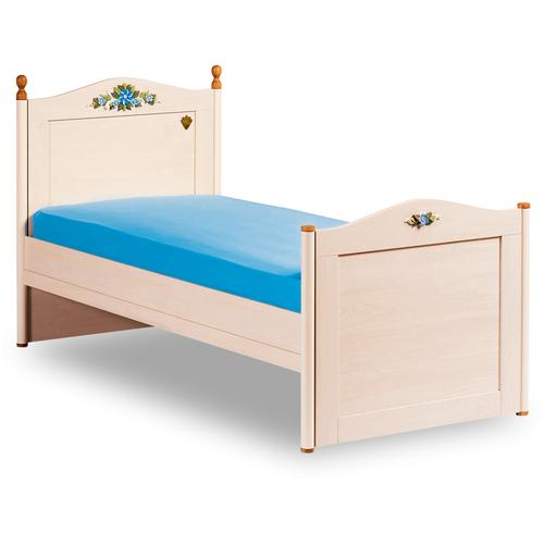 Кровать детская Cilek Flora Karyola односпальная, размер (ДхШ): 206х128 см, цвет: кремовый шкафы cilek купе flora