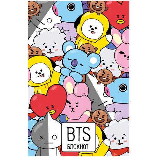 Блокнот Бомбора BTS аватары группы 138x212, 64 листа