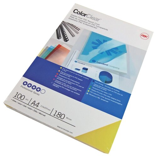 Фото - Обложки для переплёта GBC A4 дымчатый (100шт) ColorClear (CE011850E) gbc inspire a4