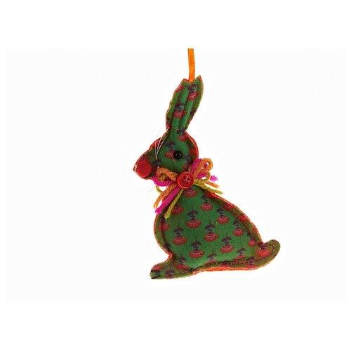 Новогоднее украшение Monte Christmas Зайчик зеленый