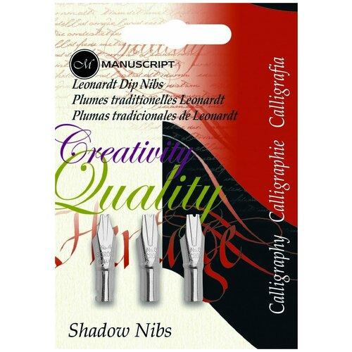 Купить Набор перьев Manuscript Shadow 3шт блистер MDP3S, Фломастеры и маркеры