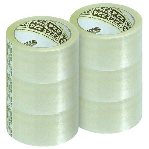 Купить Лента липкая скотч 48мм х 66м Nova Roll, прозрачная, 43мкм, 6шт, Скотч