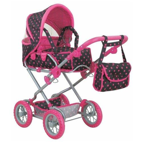 Фото - Коляска-трансформер Buggy Boom Infinia (8459) черный/розовый горох коляски для кукол buggy boom инфиниа 8459 2 в 1