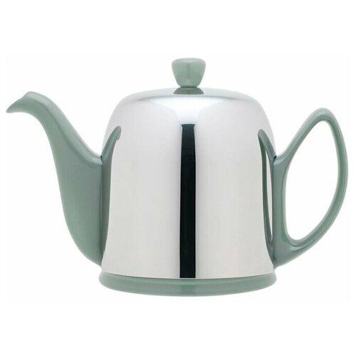 Фото - Чайник заварочный Guy Degrenne, Salam Jade (0.7 л), с колпаком, 236269, на 4 чашки чайник заварочный salam white 0 37 л с колпаком с ситечком на 2 чашки 211987 guy degrenne