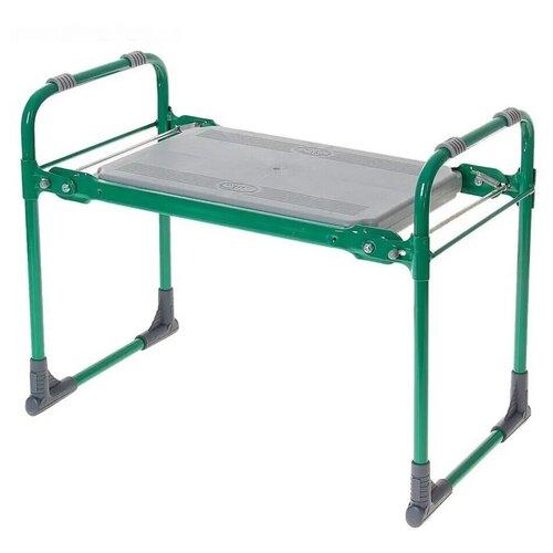 Садовая скамейка перевертыш, складная, для дачи, уличная, лавочка, с подлокотниками зеленый