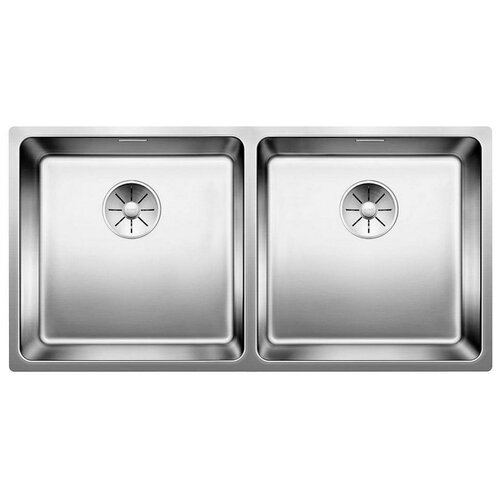 Врезная кухонная мойка 86.5 см Blanco Andano 400/400-U InFino нержавеющая сталь