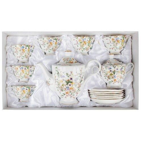 Чайный сервиз Millimi Версаль 802-008, 6 персон, 14 предм., белый millimi салатник наяда 16 5 см белый