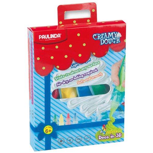 Купить Масса для лепки PAULINDA 3D моделирование 4 цвета (160001), Пластилин и масса для лепки