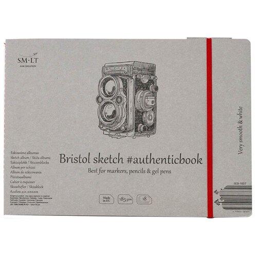 Купить Альбом для эскизов Smiltainis Authentic Bristol 24.5 х 17.6 см, 185 г/м², 18 л., Альбомы для рисования