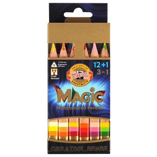 KOH-I-NOOR Карандаши с многоцветным грифелем Magic, 13 цветов (3404N15001KSRU) koh i noor карандаш с многоцветным грифелем progresso magic 30 штук 8775030001tdru