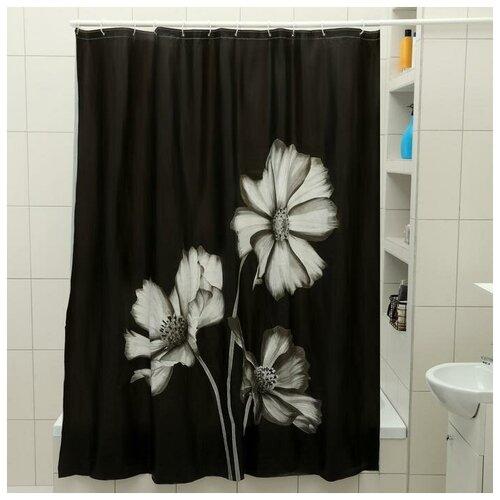Штора для ванной Доляна Герберы 180x180 герберы штора для ванной доляна малевич 180x180 малевич