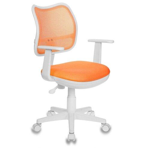 Компьютерное кресло Бюрократ CH-797 детское, обивка: текстиль, цвет: TW-96-1 оранжевый компьютерное кресло бюрократ ch w797 abstract детское обивка текстиль цвет мультиколор абстракция