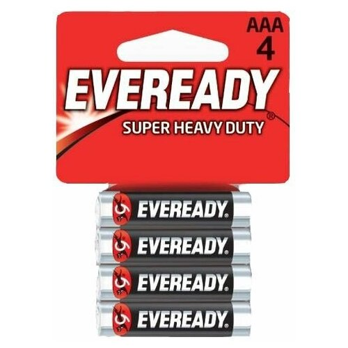 Фото - Батарейки EVEREADY R03 типа AAA - 4 шт., Energizer, , прозрачный пакет батарейки energizer max типа e91 aa 4 шт 3 1 в подарок energizer