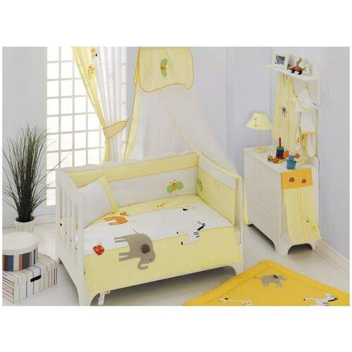 Купить Комплект Kidboo из 6 предметов серии My Animals (Yellow), Постельное белье и комплекты