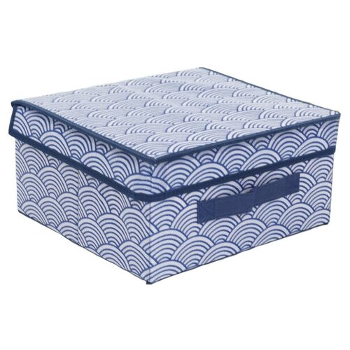 textura короб для хранения с крышкой 28 х 30 х 15 см home Доляна Короб для хранения с крышкой 30 х 28 х 15 см волна