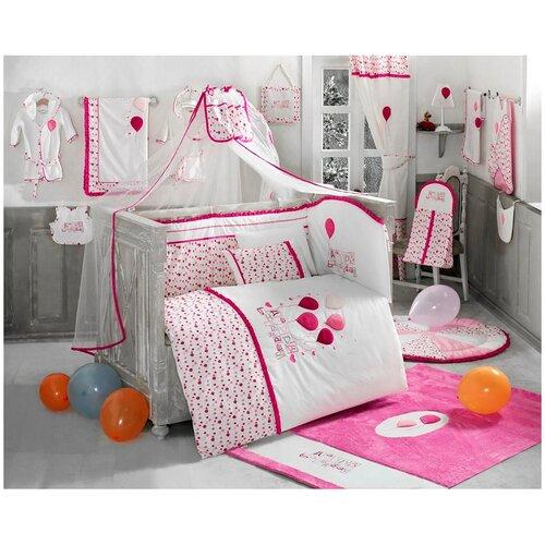 Купить Комплект Kidboo из 6 предметов серии Happy Birthday (Pink), Постельное белье и комплекты