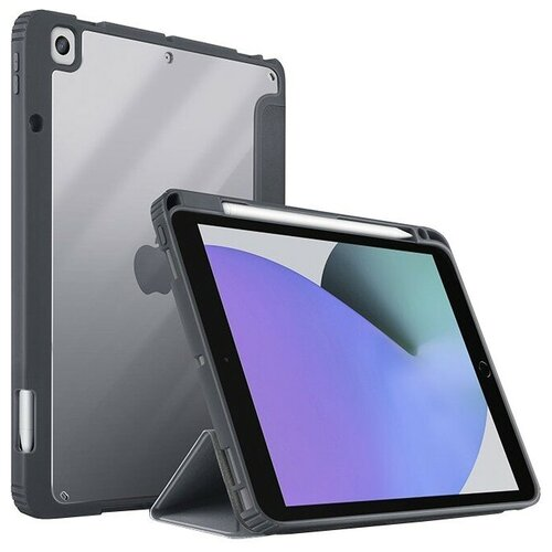 Чехол-книжка для iPad 10.2 Uniq MOVEN Anti-microbial серый