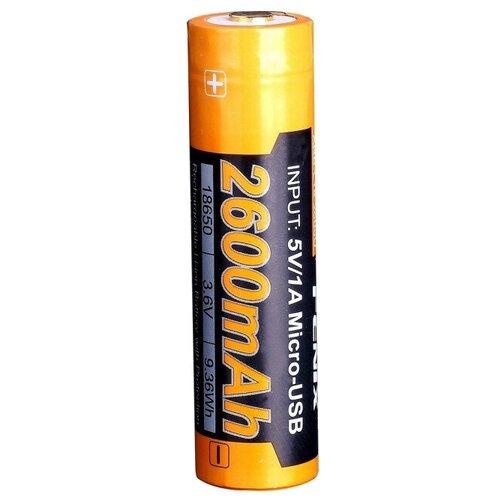 Фото - Аккумулятор Li-Ion 2600 мА·ч Fenix 18650 ARB-L18-2600U, 1 шт. аккумулятор li ion 2600 ма·ч ansmann 18650 с защитой 1 шт