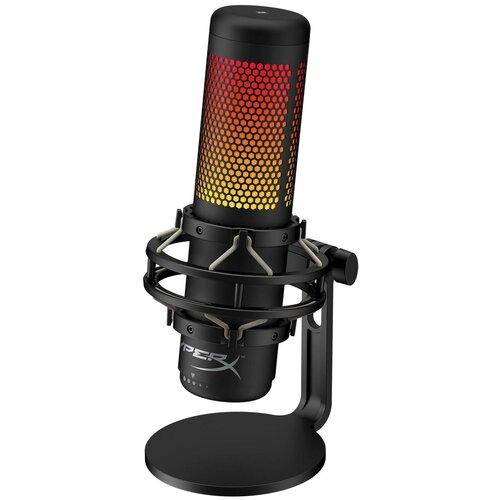 HyperX QuadCast S Игровой микрофон (USB, RGB подсветка, HMIQ1S-XX-RG/G)
