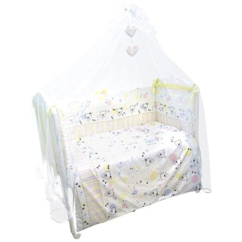 Фото - Сонный Гномик комплект Конфетти (7 предметов) салатовая свежесть комплекты в кроватку сонный гномик конфетти 6 предметов