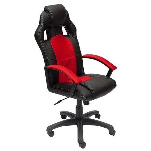 Фото - Компьютерное кресло TetChair Драйвер игровое, обивка: текстиль/искусственная кожа, цвет: черный/красный компьютерное кресло tetchair багги обивка текстиль искусственная кожа цвет черный серый
