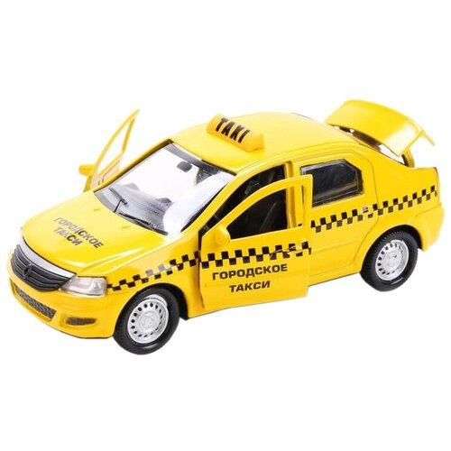 Легковой автомобиль ТЕХНОПАРК Renault Logan Такси (LOGAN-T), 12 см, желтый легковой автомобиль технопарк renault kaptur 1 36 12 см оранжевый