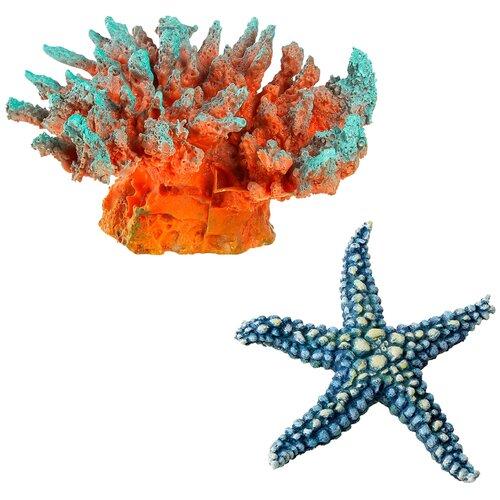 Декорации для оформления аквариума Marvelous Aqva набор, N-60