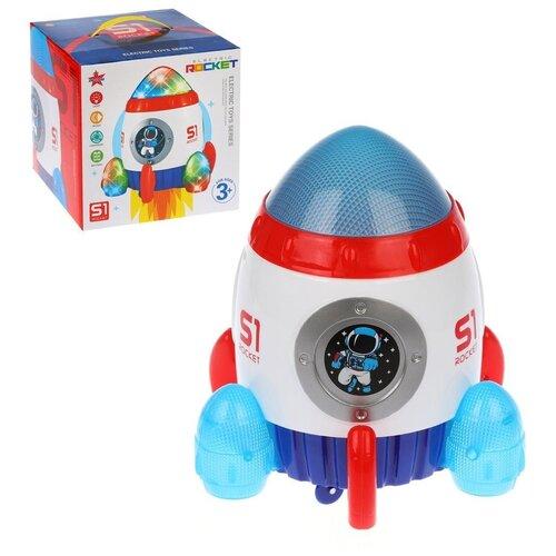 Купить Музыкальная игрушка Наша Игрушка Ракета, свет, ездит, вертится, объезжает препятствия (5299), Наша игрушка, Развивающие игрушки