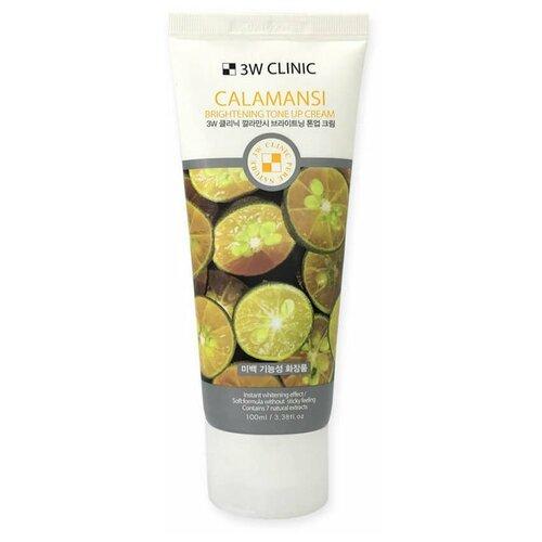 3W Clinic Calamansi Brightening Tone Up Cream Осветляющий крем для улучшения тона кожи лица с экстрактом каламондина, 100 мл