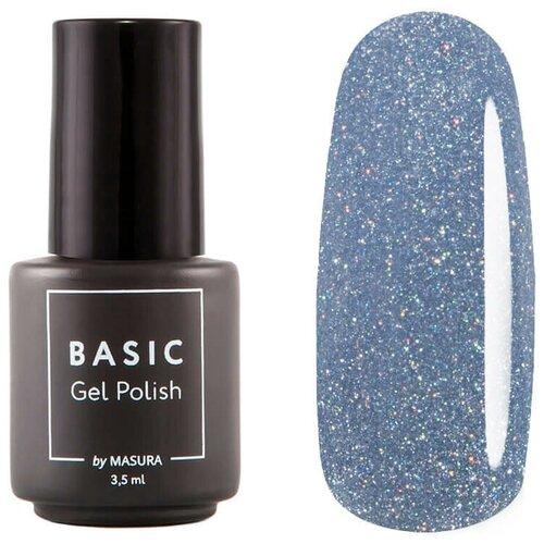 Гель-лак для ногтей Masura Basic, 3.5 мл, Синий Метеорит