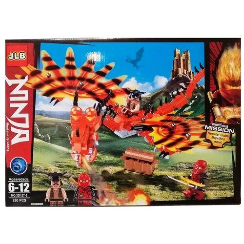 Купить Конструктор JLB Ninja 3D127-3 Красный дракон, Конструкторы