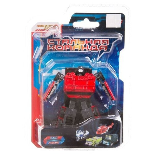 Купить Робот-трансформер Zhorya Стальная команда ZYK-K2601-2 красный/черный, Роботы и трансформеры