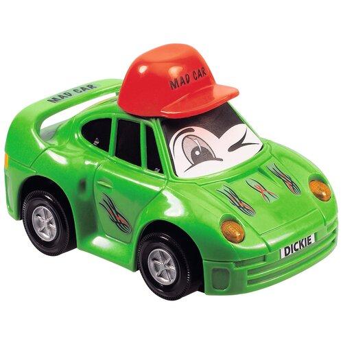 dickie toys машинка трансформер боевой трейлер optimus prime Легковой автомобиль Dickie Toys Веселая машинка (3313007), 12 см, зелeный