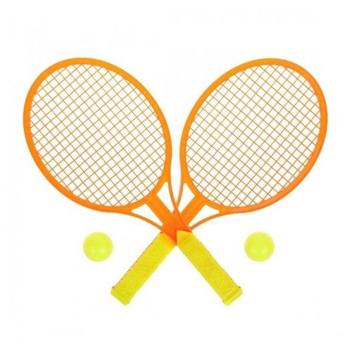 Фото - Набор ракетки детские 34 см, 2 мяча набор для игры в теннис abtoys 2 ракетки 2 мяча на блистере 43x21x4 5
