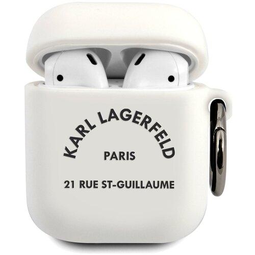 Чехол Karl Lagerfeld Silicone case KLACA2SILRSGWH для Airpods (White)