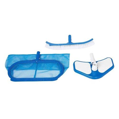 Фото - Набор для чистки бассейна INTEX DELUXE сачок, щетка, вакуумная насадка набор для чистки бассейна bestway 58195 сачок щетка трубка насадка фильтр термометр
