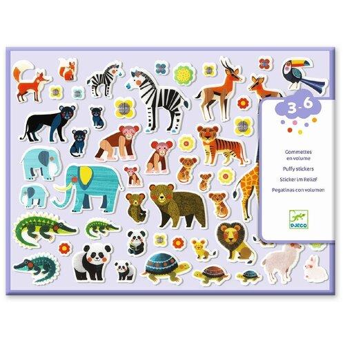 Набор объемных наклеек Djeco Мамы и детки (09081) детские наклейки djeco набор объемных наклеек мамы и детки