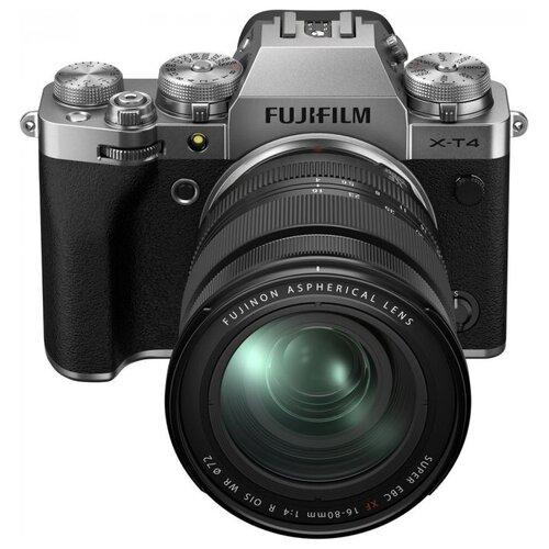 Фото - Фотоаппарат Fujifilm X-T4 Kit silver Fujinon XF 16-80mm F4 R OIS WR цифровой фотоаппарат fujifilm x pro3 body dr silver