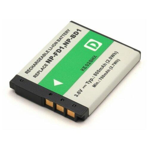 Фото - Аккумулятор для фотоаппарата Sony NP-BD1, NP-FD1 аккумулятор для фотоаппарата casio np 60