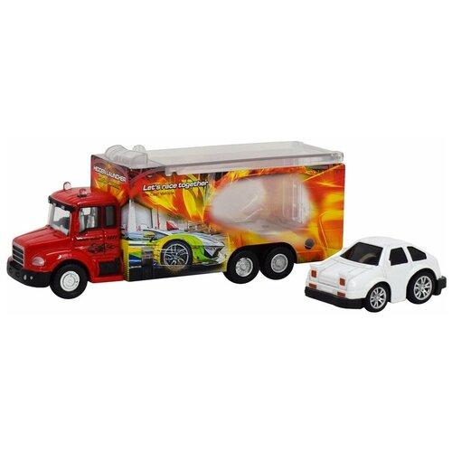 Автовоз Пламенный мотор 870528, красный/белый