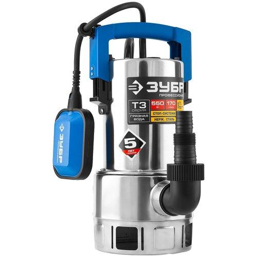 Фото - Дренажный насос ЗУБР НПГ-Т3-550-С (550 Вт) дренажный насос для чистой воды зубр нпч т3 550 550 вт