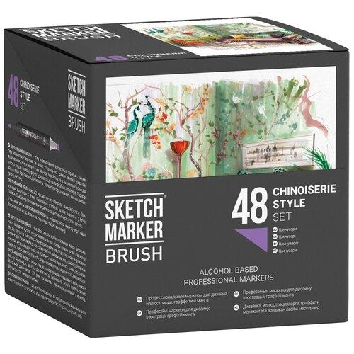 Фото - SketchMarker Набор маркеров Brush Сhinoiserie Style Set, 48 шт. sketchmarker набор маркеров brush oriental style set 48 шт