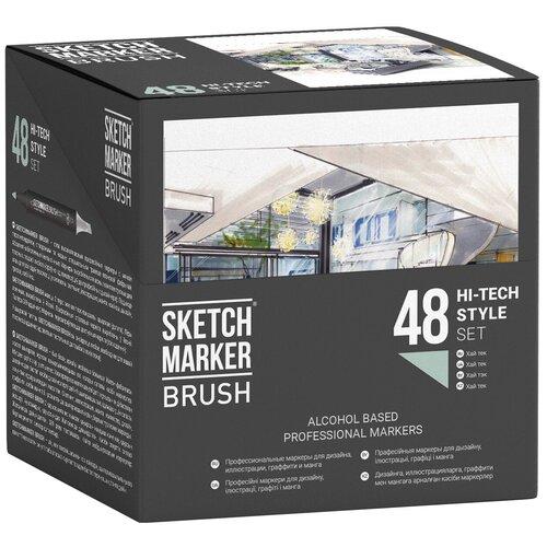 Фото - SketchMarker Набор маркеров Brush Hi-Tech Style Set, 48 шт. sketchmarker набор маркеров brush oriental style set 48 шт