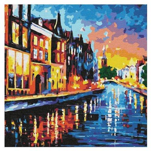 Купить Котеин картина по номерам Каналы Амстердама 30х30 см (KHM0041), Картины по номерам и контурам